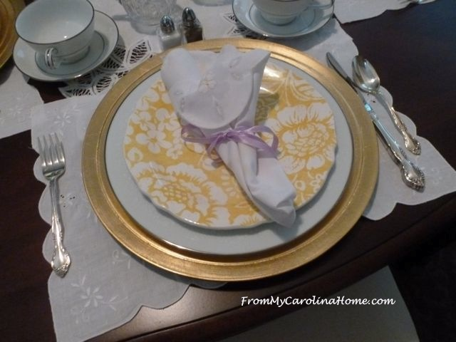 Ladies Luncheon Tablescape at From My Carolina Home