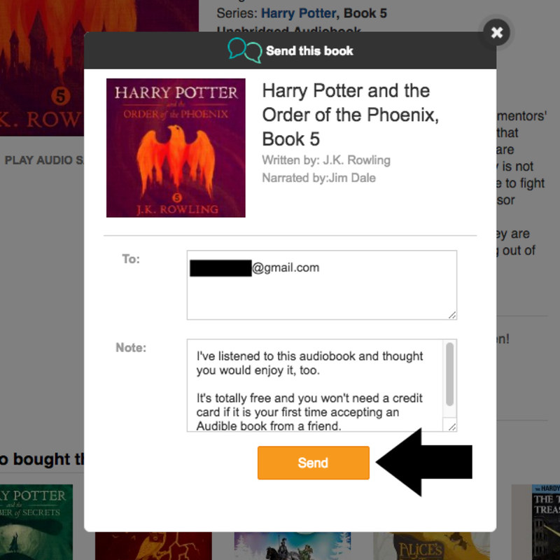 How to share your Audible books with friends and family for free using Send this Book