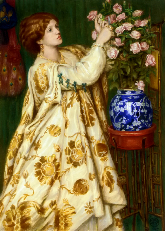 Monna Rosa by Dante Gabriel Rossetti - 1867