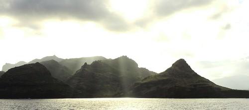 sunset sun island dawn hawaii kauai hi rays sunrays nawiliwili konomark