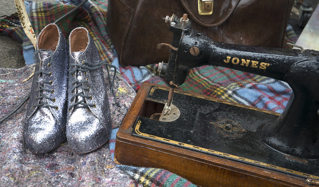 Sparkly Boots & Sewing Machine