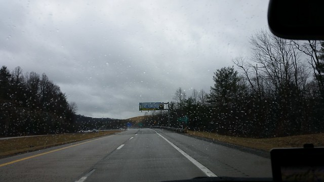 Light drizzle but it's West Virginia