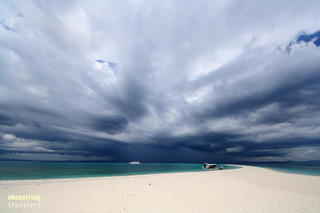 storm clouds over Kalanggaman Island