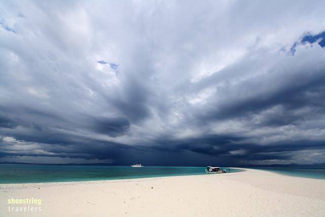 storm clouds over Kalanggaman Island, Palompon, Leyte