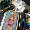 The art supplies I bought with me.. #trekell #derwent #fabercastel #inktense #canson #atc #aceo #postcards