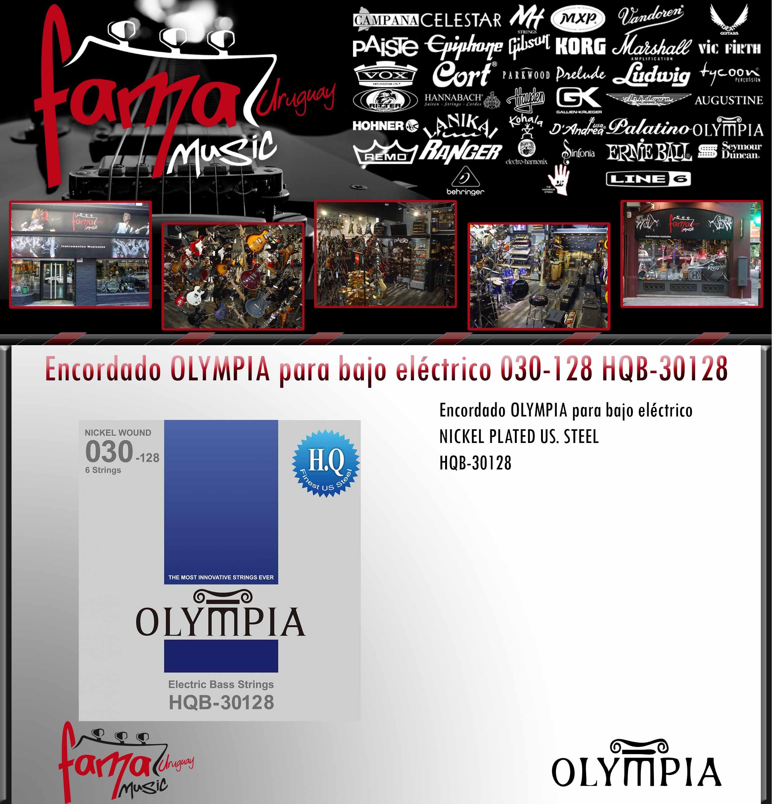 Encordado OLYMPIA para bajo eléctrico 030-128 HQB-30128