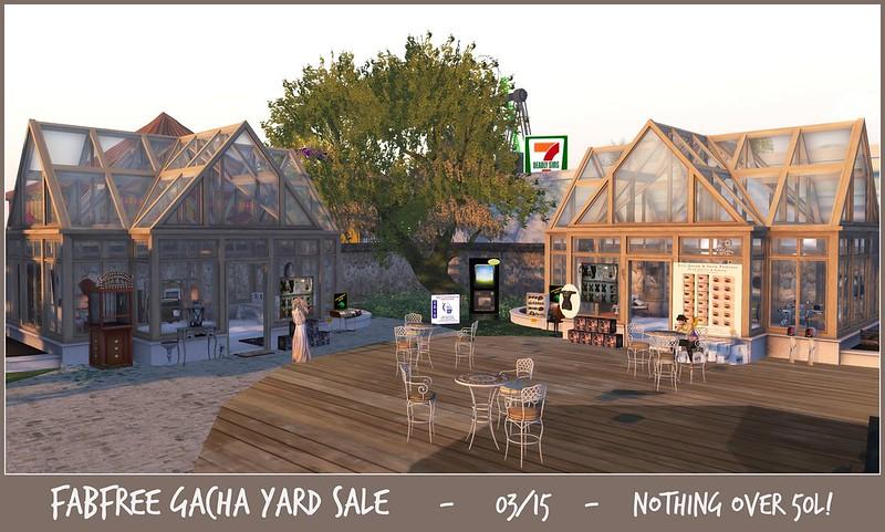 FabFree Gacha Yard Sale