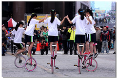 Unicycle show