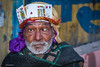 Interestingly adorned gentleman seeking alms -  Amritsar, India