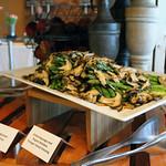 Grilled Asparagus and Organic Shiitakes, Tarragon Tamari Dressing