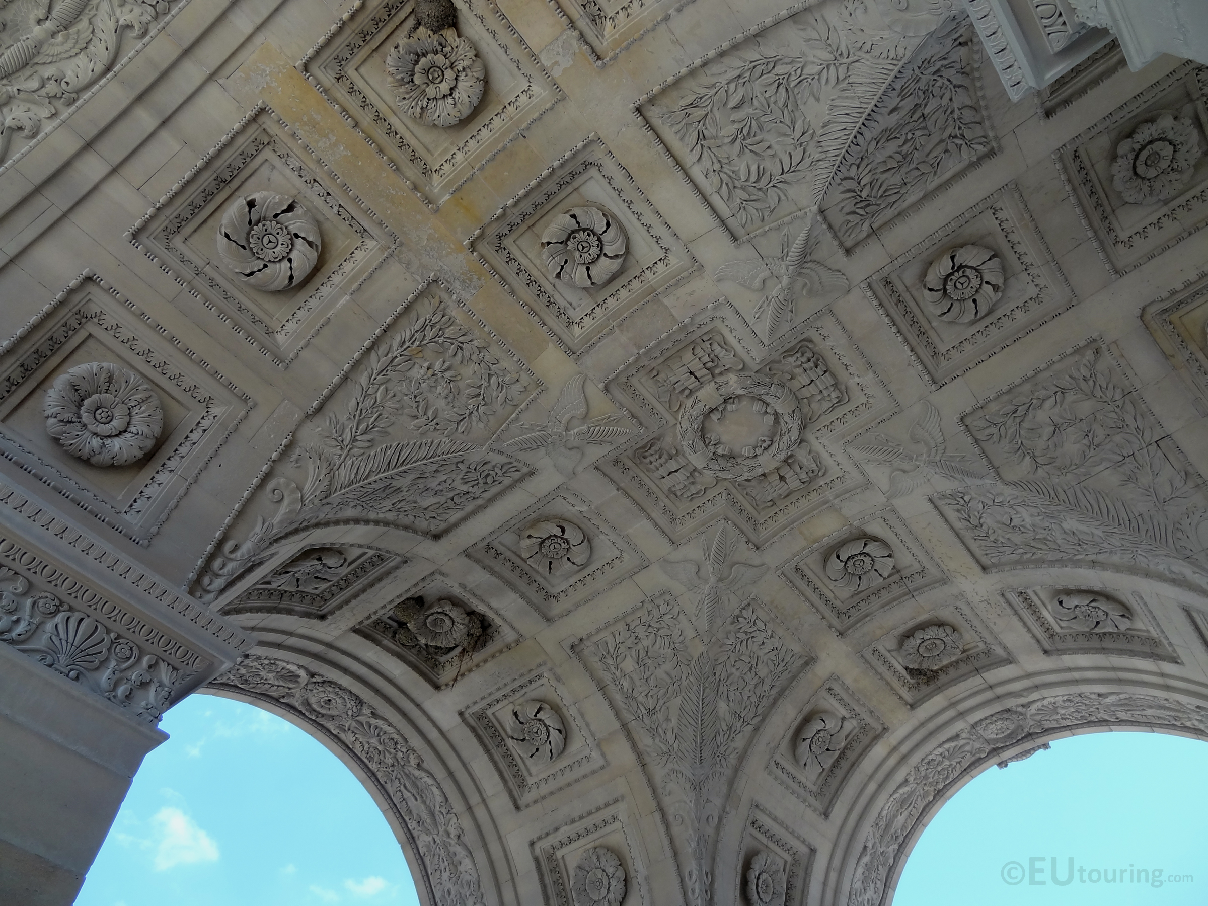 Underneath the smaller arch