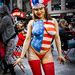 sigma merrill dp2 new york times square flag body paint model red white blue