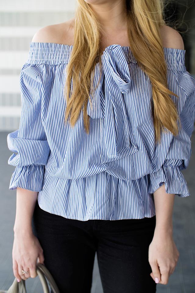boohoo striped blouse