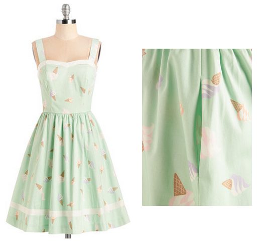 modcloth ice cream dress