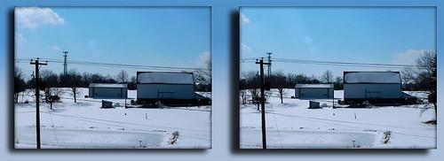 Farm, Pole, and Tower Winter 1 - Cross-eye 3D