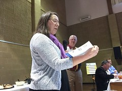Guest Jennifer Wienold didn't waste any time pitching her club's fundraiser.