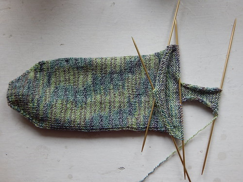 носки от мыска с квадратной пяткой по описанию Осоты | ХорошоГромко.ру