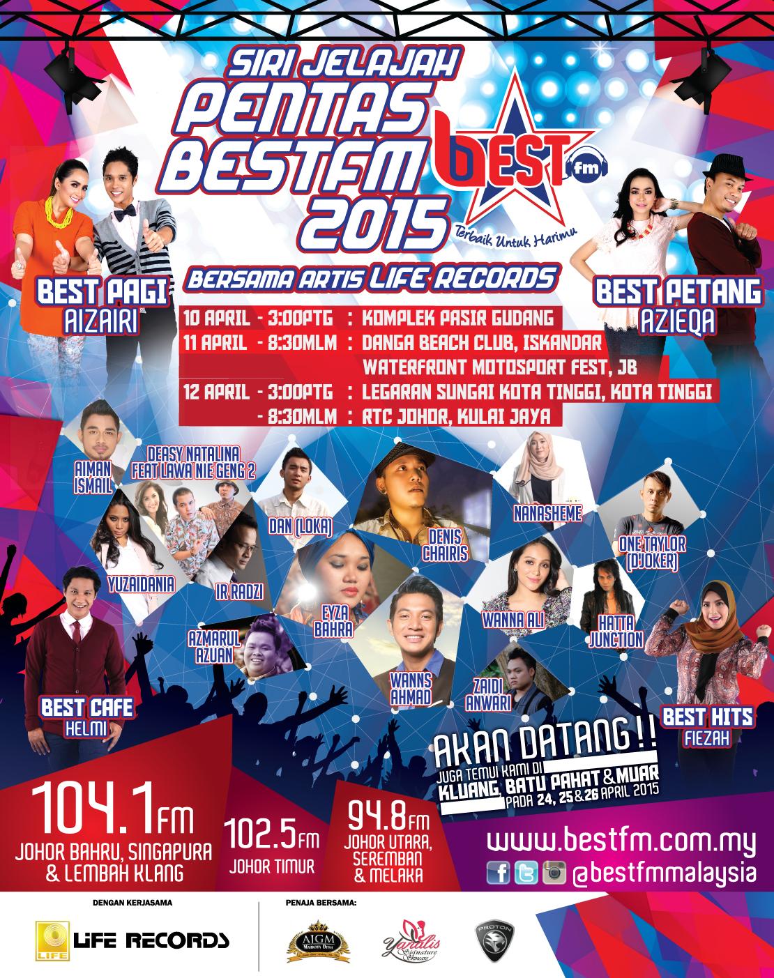 e-poster Pentas Best FM 2015