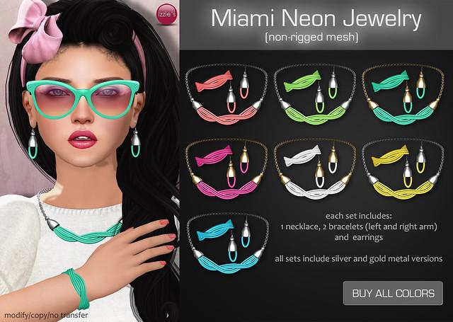 Miami Neon Jewelry (for Uber)