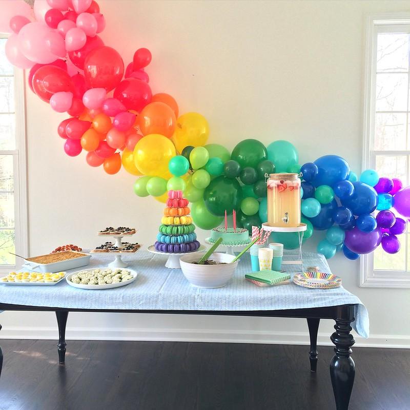 Caroline's Rainbow Birthday Party