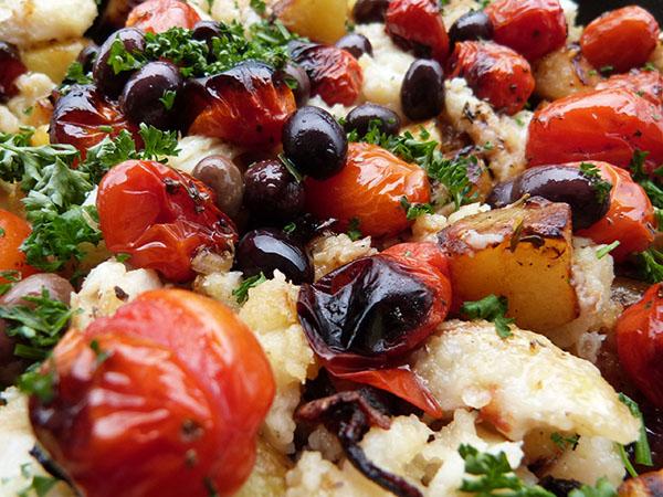 morue aux olives