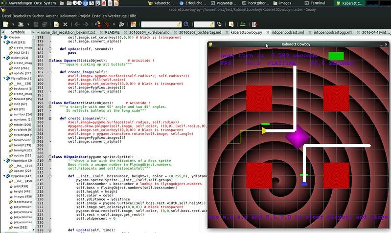 python/pygame Projekt von spielend-programmieren Kursteilnehmern