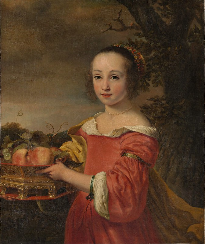 Ferdinand Bol - Petronella Elias (1648–1667) with a Basket of Fruit (1657)