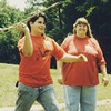 My late edition #TBT pic is from the early 1990s...about the same time I wrote on the artifact bag I previously posted...here is my first wife (Kathleen Cannon) and I throwing atlatls at a public archeology event at Chucalissa in Memphis.