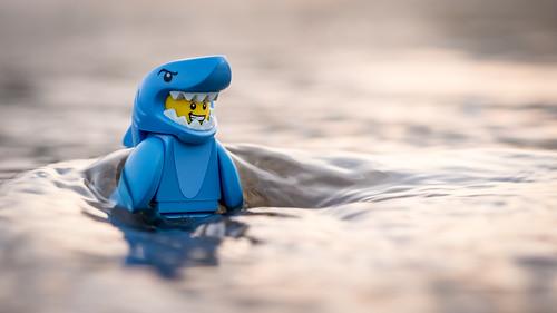 sunset sea guy beach water japan toy tokyo shark lego outdoor wave suit minifig minifigure