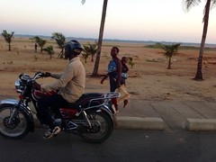 Motorcycling in Lome, Togo.