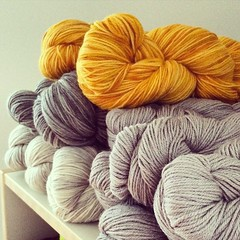 I love it. It's my husband's birthday and I just received a big yarn order. Happy Birthday Patrick :) #yarnlove