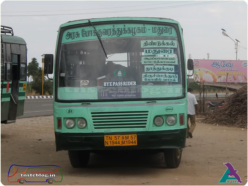 TN-57N-1944 of Dindigul Depot Route 111 Dindigul - Thiruchendur via Madurai, Thoothukudi