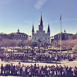 When it's 63 degrees and sunny, Jackson Square is the place to be #onlyinneworleans #onlyattulane #followyournola