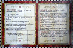 tiles: Lords Prayer and Creed