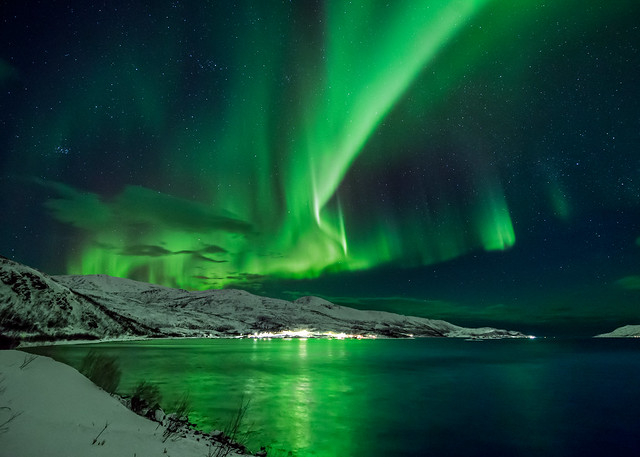 Wayne Pinkston - Aurora over Bo Fjord, Norway