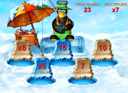 free Penguin Vacation Mobile bonus feature rewards