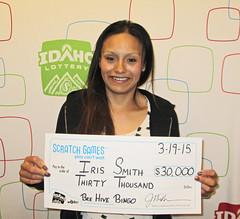 Iris Smith - $30,000 Beehive Bingo