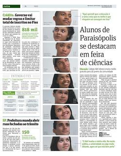 Alunos de Paraisópolis - Metro SP / 2015