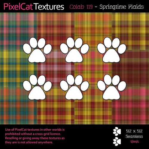 PixelCat Textures - Colab 119 - Springtime Plaids