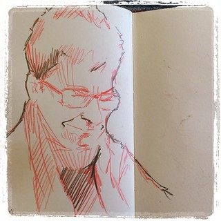 #train #urbansketch #portrait