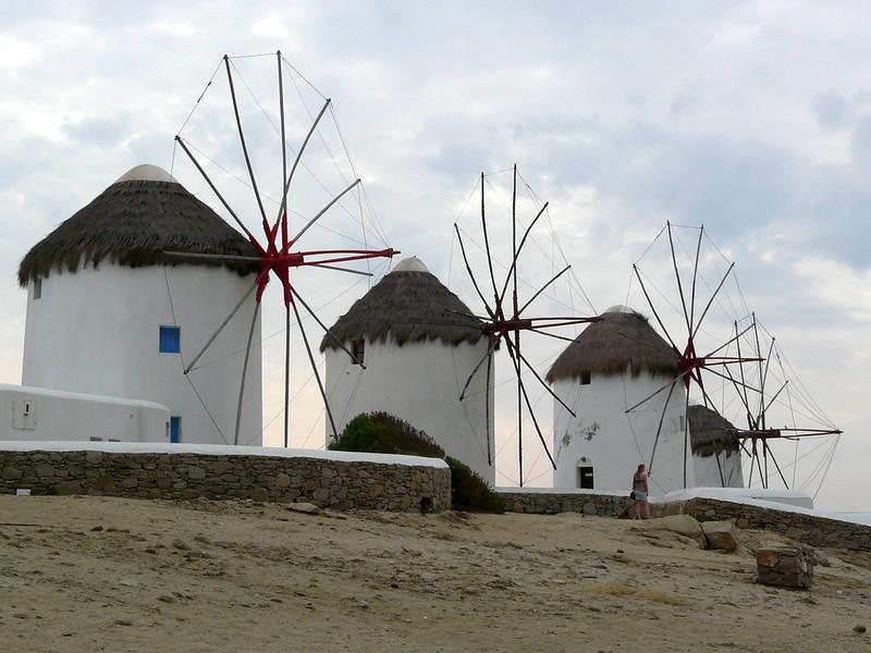 Moulins à vent à Mykonos