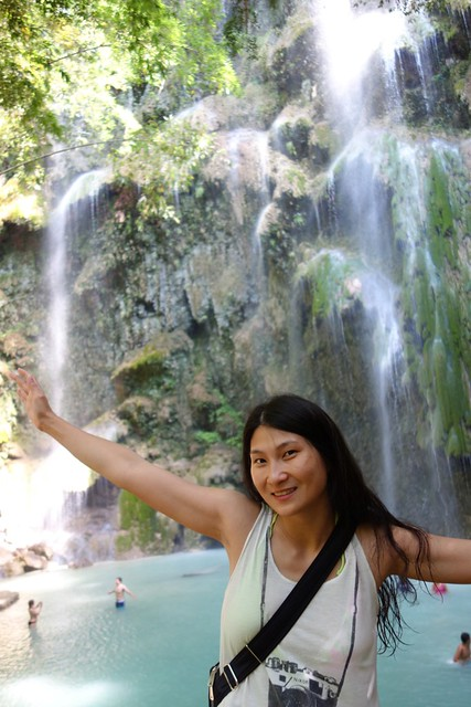 Beautiful waterfall in Oslob, Cebu.