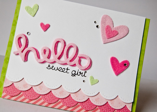 Hello sweet girl card