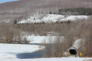 Eastern Townships Landscape with Eustis Covered Bridge
