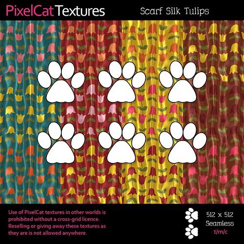 PixelCat Textures - Scarf Silk Tulips