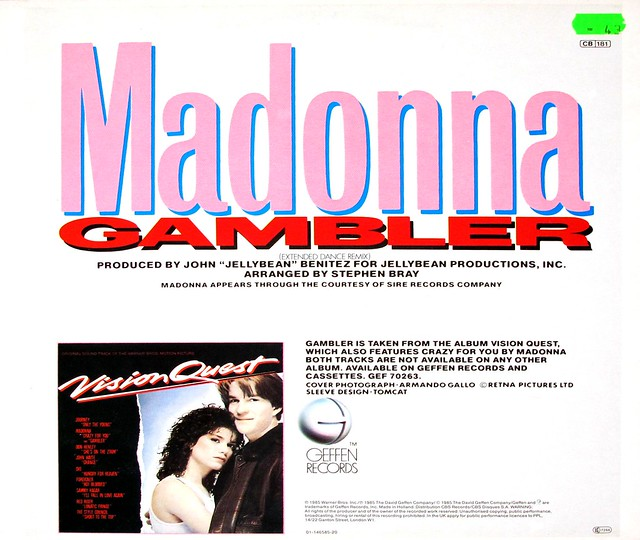 "MADONNA Gambler extended dance mix 12"" MAXI-SINGLE"