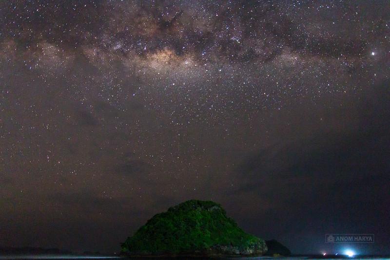 Milkyway di Pantai Goa Cina (Malang)