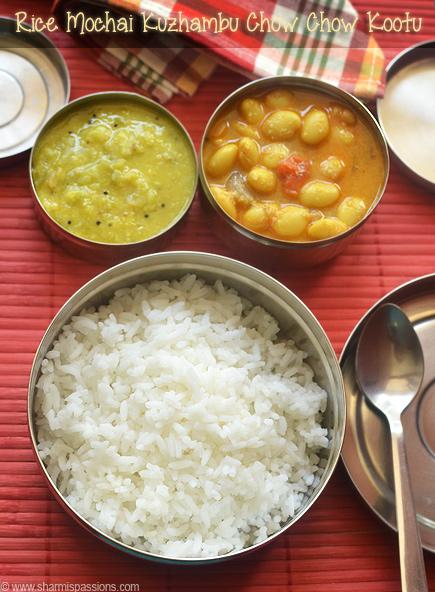 Rice Mochai Kuzhambu Chow Chow Kootu