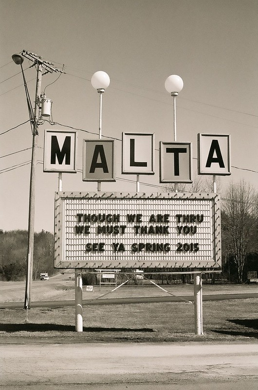 Malta Drive-In Sign, Malta NY