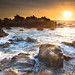 Sunset at Pacific Grove by Nathalie Stravers